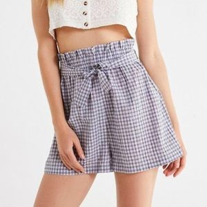 Urban outfitters paper bag tie high wasted shorts